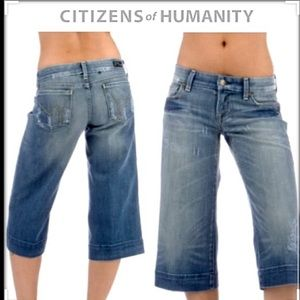 COH Santorini Wide Leg Gaucho Crop Denim Jeans
